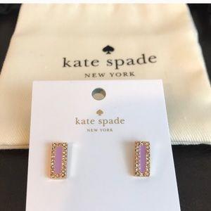 NWT Kate Spade Raising the Bar Earrings in Purple